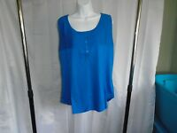 Style And Company Womens Tank Top Size X-large Blue