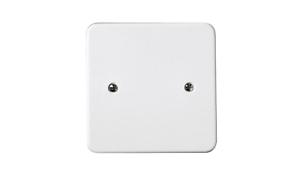 VIMAR 02647 Coperchio quadrato con griffe 82x82 scatola rotonda 55-70mm bianco