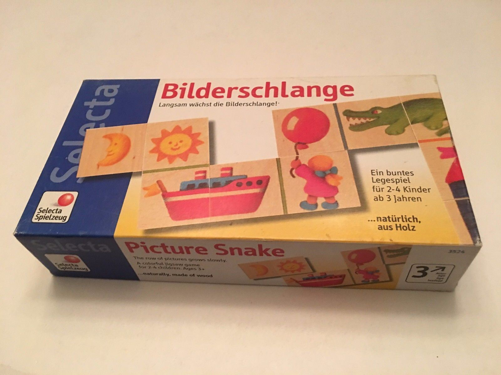 Selecta bild schlange 3524 mit box kinder puzzle - spiel