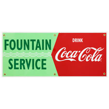 Fountain Service Drink Coca Cola Waves Wall Decal 24 X 10 Vintage Style Kitchen