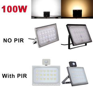 LED Floodlight 10W 20W 30W Outdoor Security NO PIR Flood Cool Warm Light 12V UK