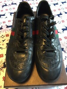 mens GUCCI trainers black size 8.5 very