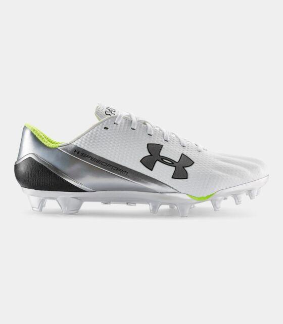 cbeff5019 Under Armour UA White Silver Speedform MC Football Cleats Mens 16  NEW   130