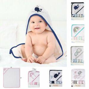 6 Pack Baby Infant Cartoon Hooded Bathrobe Child Toddler Bathing Towel Washcloth