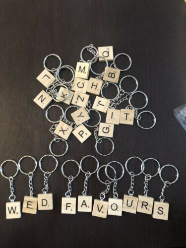 Scrabble Letter Keyrings ideal for Wedding Favours