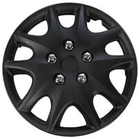 1 Piece Of 14 Matte Black Hub Caps Full Lug Skin Rim Cover For Steel Wheels on sale
