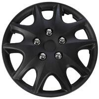1 Piece Of 14 Matte Black Hub Caps Full Lug Skin Rim Cover For Steel Wheels on sale