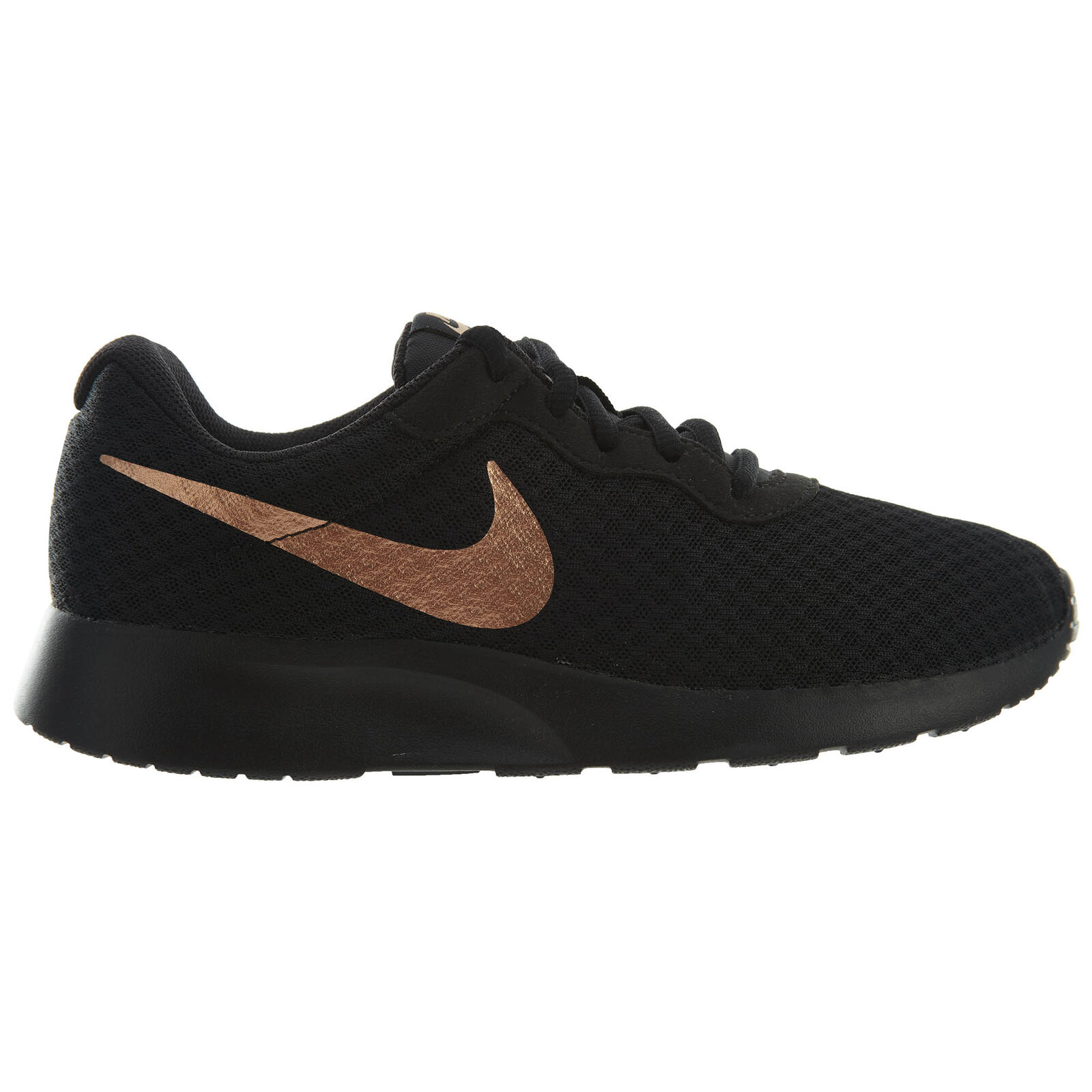 Nike Tanjun655-005 Black Metallic Bronze Mesh Running Shoes Comfortable