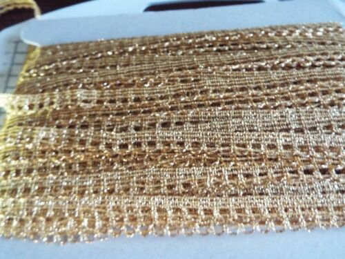 Gold Metallic Lace,Trimming W- 12mm Edging  and Decorations 3m