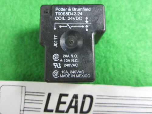Brand New Potter /& Bruimfield T90S5D42-24 Power Relay 20A 24VDC 5 Pins