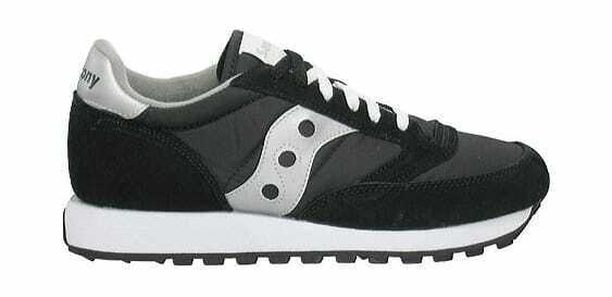 Saucony Originals Men's Jazz Original Sneaker Black Silver Running Sneakers