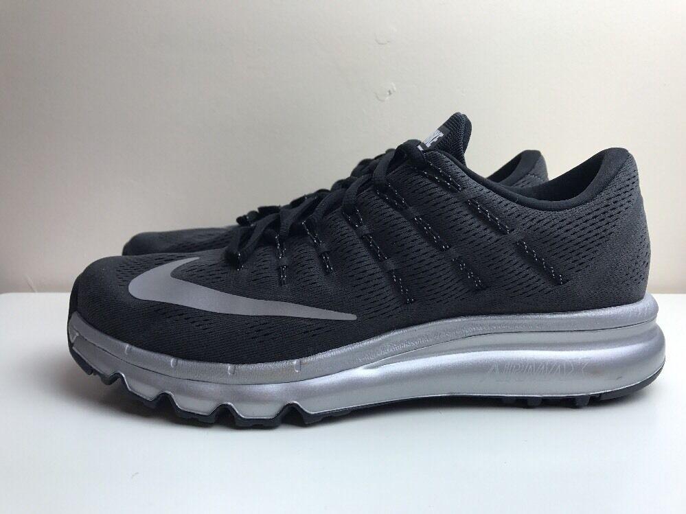 Nike Air Max 2018 Mujeres Zapatillas Para Para Zapatillas Correr Negro Plata Reino Unido 7.5 a619e5