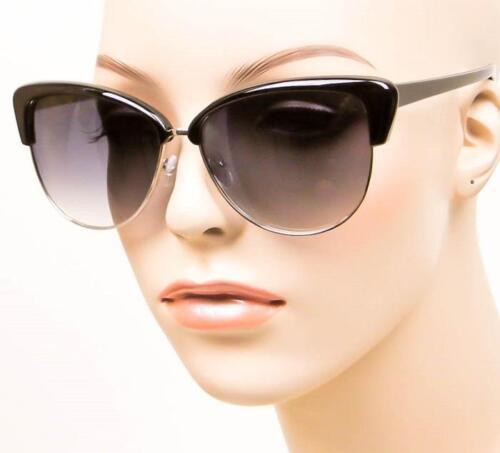 Oversized ALISHA Large BLACK Cat Eye Designer Big Celebrity Sunglasses Glasses L
