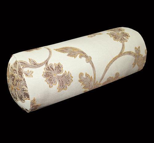 Hc light gold dusty rose marron lake green floral traversin housse de coussin yoga case