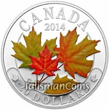 Canada 2014 Majestic Maple Leaves #2 SML $20 Pure Silver Color Maple Leaf