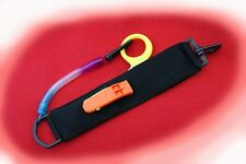 SCUBA DIVING SAFETY SHEARS WITH WHISTLE IN WALLET (BLACK)