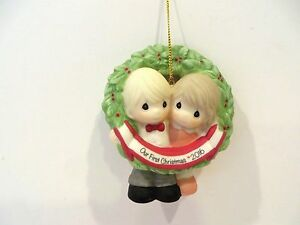 PRECIOUS MOMENTS 2016 OUR FIRST CHRISTMAS TOGETHER ORNAMENT  eBay