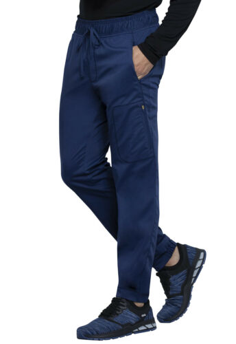 Cherokee Workwear Scrubs Men Short Natural Rise Jogger WW012S NAV Navy Free Shp