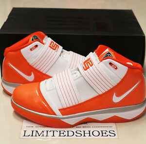 ed92aef0e2ae1 NIKE ZOOM SOLDIER III 3 TB WHITE TEAM ORANGE 367183-119 LEBRON US ...