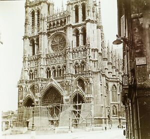 FRANCE-Cathedrale-Notre-Dame-d-039-Amiens-Photo-Stereo-Plaque-Verre-VR2L5n12