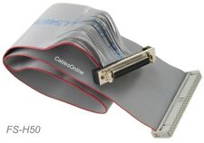"""CablesOnline AD-S23 16/"""" SCSI Drive CN50 50Pin F to IDC50 50Pin M Ribbon Cable"""