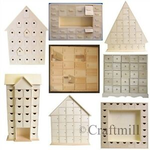 Plain Wooden Advent Calendars Unfinished And Ready To Decorate