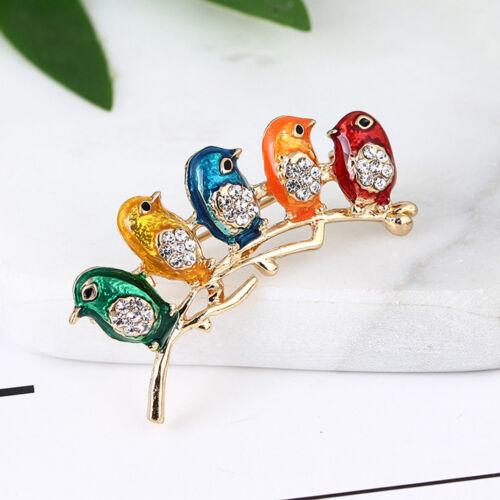 Fashion Strass Oiseau Animal Émail Broche Pin Women Fashion Jewelry Cadeaux