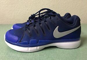d672a6cee29 Nike Zoom Vapor 9.5 Tour Navy Blue Silver Tennis Shoes Mens Sz 6 ...