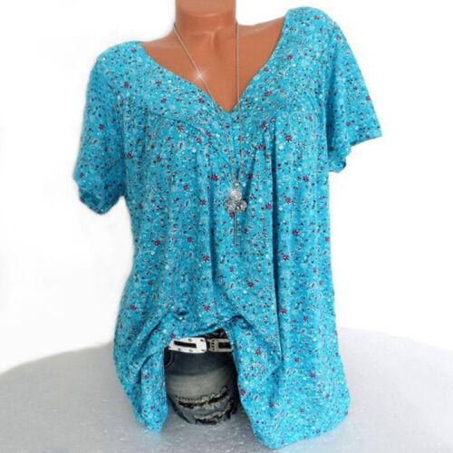 Summer Women Blouse Tops T Shirt Tee Tops Cami Tank V Neck Casual Loose Beach