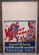 VIOLENT SATURDAY original1955 movie poster VICTOR MATURE/LEE MARVIN/RICHARD EGAN