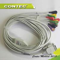 Contec Type A Ecg One Twelve Lead Wire, Db15 ,gilding Snap Type Ecg Ekg