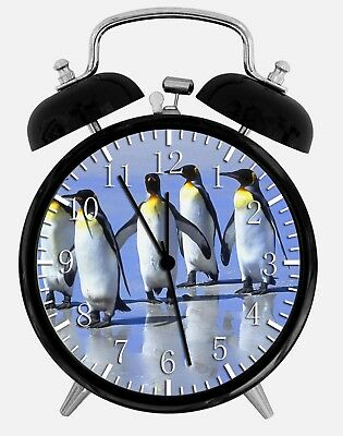"Ambitieus Cute Penguins Alarm Desk Clock 3.75"" Home Or Office Decor Z75 Nice For Gift"