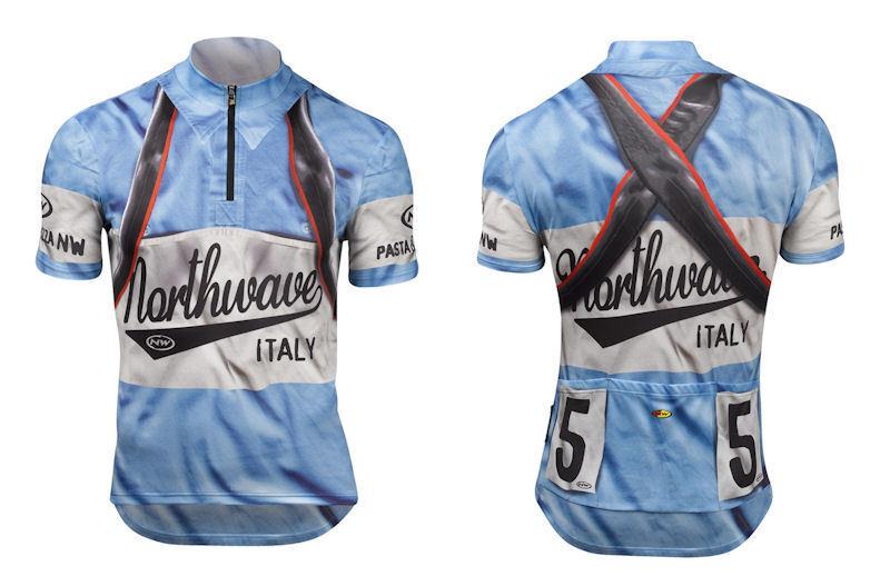 Camiseta Camiseta m c Patrimonio de NORTHWAVE Mod con la luz bluee