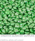 25 ct - 1/2 inch Electric Green Mini Iridized Glass Gems Mosaic Tiles