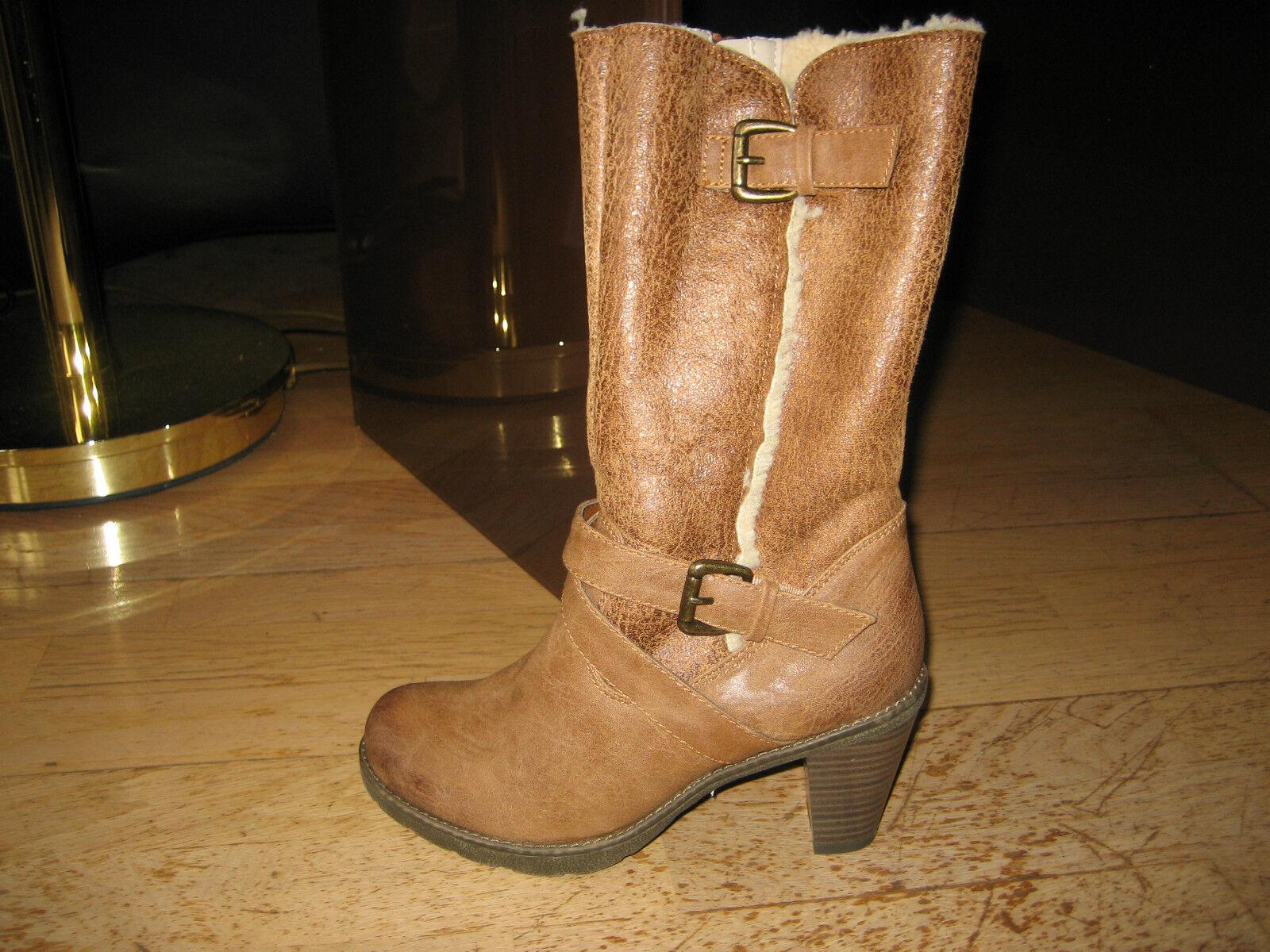 Winterstiefel Stiefel gefüttert braun Günstige und gute Schuhe