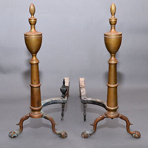 image is loading antique pair of puritan spire top eagle claw