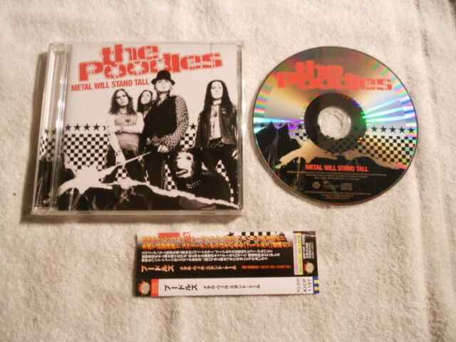 """The Poodles """" Metal Will Stand Tall """" 2006 Rare Japan CD Lionheart Rec."""