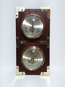 Vintage Taylor Weather Station Precision Barometer Thermometer Wood Wall Decor