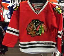 Chicago Blackhawks Age 8-12 NHL Hockey Jersey Home Red Youth Reebok S M 1b9079ef8