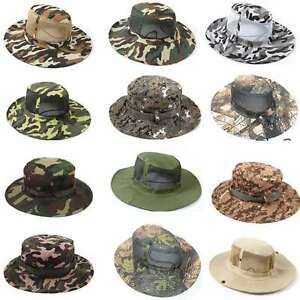 f5c6a8af34e Image is loading Fashion-Camouflage-Bucket-Hat-Boonie-Hunting-Fishing -Unisex-