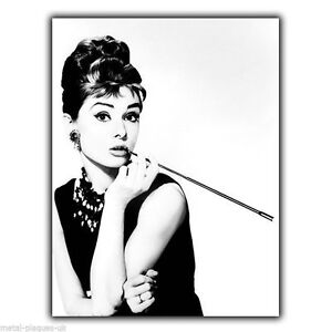 Details About Audrey Hepburn Breakfast At Tiffanys Metal Wall Sign Plaque Poster Print Art