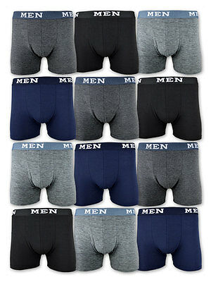 4 / 10 / 20 Boxershorts Baumwolle Retro Shorts Unterhosen Schwarz Grau Blau