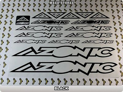 """AZONIC Stickers Decals Bicycles Bikes BMX MTB Cycles /""""DIFFERENT COLORS/"""" 57Z"""