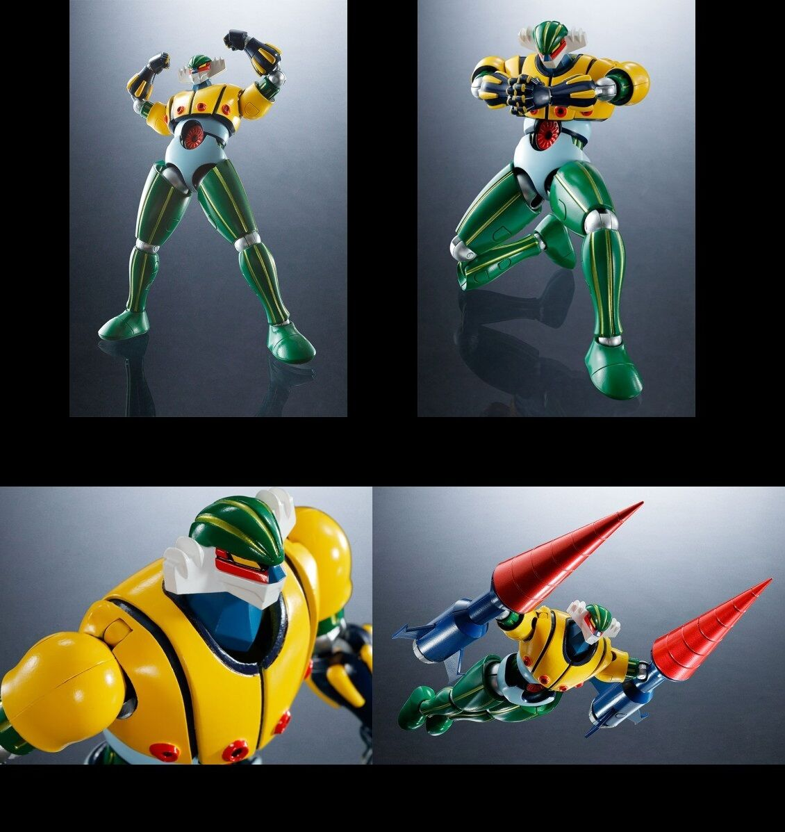 -=] BANDAI - Kotetsu Jeeg Robot d'Acciaio Super Robot Chogokin [=-