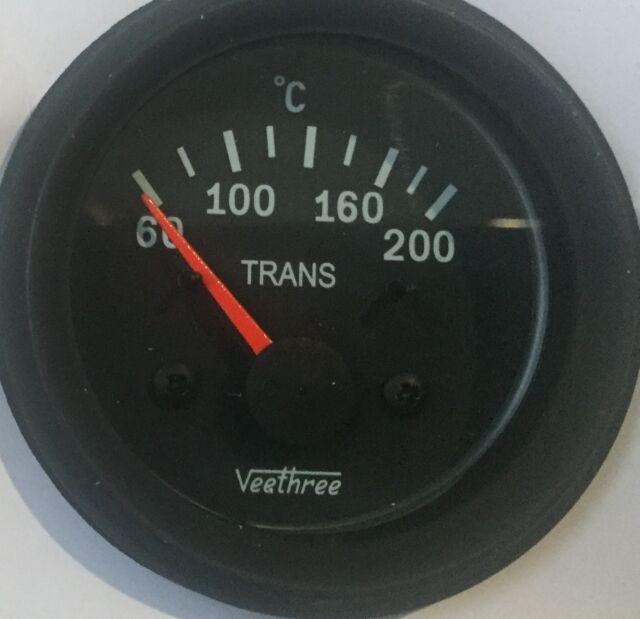 Transmission Temperature Gauge with Sender 24V, FREE POSTAGE AUSTRALIA