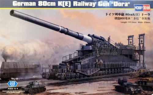 E Railway Gun Dora Eisenbahngeschütz 1:72 Model Kit Hobby Boss 82911 80 cm K