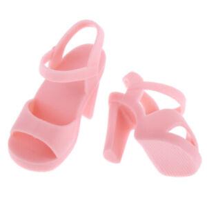 Handmade-Plastic-Doll-High-Heel-Shoes-for-1-4-BJD-Dolls-DIY-Dress-up-Pink