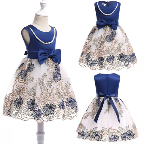 Kids Baby Flower Girl/'s Princess Bridesmaid Tutu Dresses Party Wedding Ball Gown