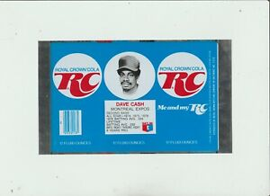 1977-Dave-Cash-RC-Cola-Can-Flat-Montreal-Expos