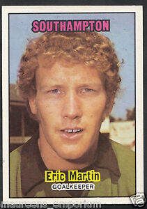 1974 Southampton Footballers Red Back A/&BC # 114 Eric Martin